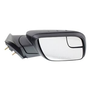 Power Mirror For 2011 2015 Ford Explorer Right Side Manual Fold Textured Black
