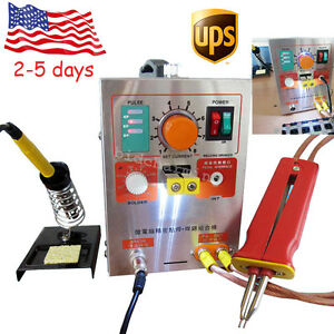 110v 2 In 1 Spot Welder Soldering Iron Station 709a Battery Welding Machine 60a