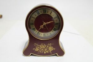 Antique Old Swiss Made Bronze Alarm Clock Petite Neuchateloise Aeger