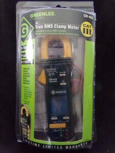 Greenlee Cm 450 Clamp Meter true Rms 600 A Ac 600v