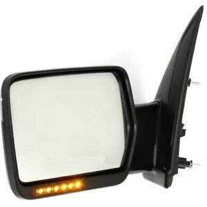 For 2004 2014 Ford F150 Power Heated Led Signals Left Chrome Driver Side Mirror