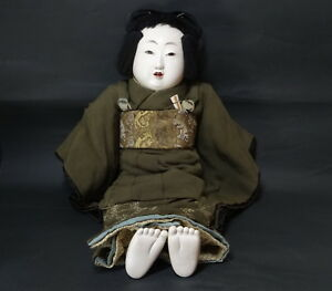 Japanese Gofun Doll Mistu Ore Doll Edo Very Large Gosho Doll 22 14 In 56 Cm