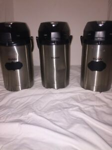 3 Carafe Bunn 32125 Stainless Steel Lined 2 5 Liter Lever action Airpot 3