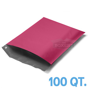 100 10x13 Pink Poly Mailers Envelopes Bags 10 X 13 2 5mil From The Boxery