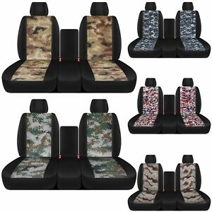 Cc Black Camouflage 40 20 40 Car Seat Covers Made To Fit Ram Trucks 2011 2018