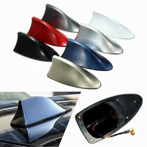 Red Auto Car Shark Fin Universal Roof Antenna Radio Fm Am Decorate Aerial