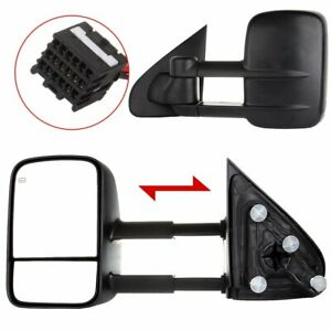 Power Heated For 2014 18 Silverado Sierra Truck Side Mirrors Towing Mirrors Pair