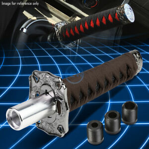 8 5 Gun Metal Katana Samurai Sword Stick Shift Knob M8 M10 M12 Base Adapter