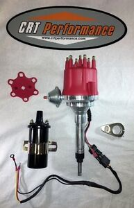 Small Cap Chevy Inline 6 Cylinder 194 235 Red Hei Distributor 45 000 Coil