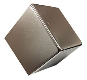 Super Strong Rare Earth Neodymium Magnets Ndfeb N52 1 Inch Cube Nickel Coating