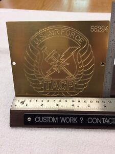 Usaf Tacp Air Force Solid Brass Master Engraving Plate For New Hermes Font Tray