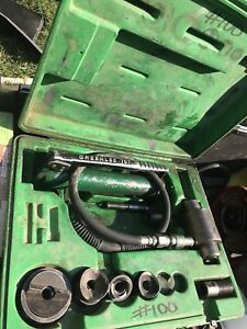 Greenlee No 767 Knockout Punch Set W Hydraulic Hand Pump 767