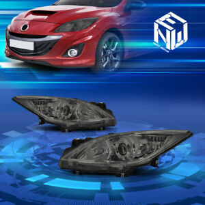 For 10 13 Mazda 3 4 door Oe Style Smoked clear Projector Headlights Replacement