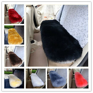 Hot Sale Single Car Rear Seat Cover Long Bench Natural Sheepskin Universal Fit