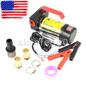 12 Volt Dc 175w 45l min Oil Diesel Kerosene Fuel Transfer Pump Portable In Usa