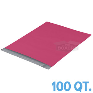 100 19x24 Pink Poly Mailers Envelopes Bags 19 X 24 2 5mil The Boxery