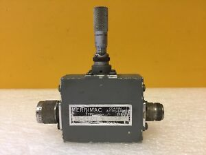 Merrimac Au 25a5ncm 1 To 8 Ghz Type N m f Micrometer Type Variable Attenuator