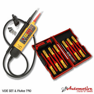 Electricians Testing Vde Tool Kit Fluke T90 1ac Insulated Screwdriver Set