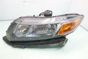 2012 Honda Civic Headlight Driver Left Head Lamp Light 33150 tr0 a01