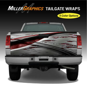 Truck Graphic 107 Abstract Ripped Metal Tailgate Wrap Vinyl Decal 5 Colors