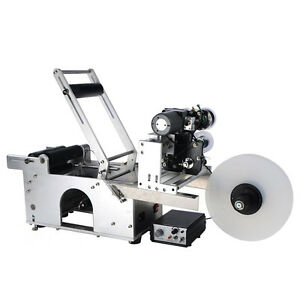 Automatic Round Bottle Labeling Machine With Date Code Printer Labeller Mt 50d