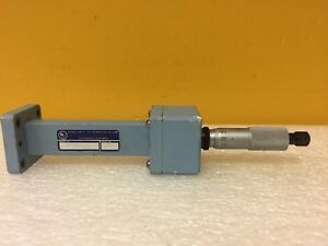 Maury Microwave M345f wr 75 10 To 15 Ghz Micrometer Waveguide Sliding Short