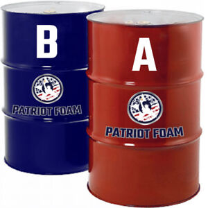 Patriot Foam 500g Open Cell Spray Foam Insulation 55 Gallon Drums