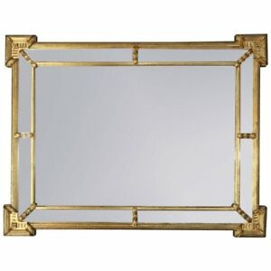 Vintage French Classical Style Giltwood Ethan Allen Parclose Mirror 20th C