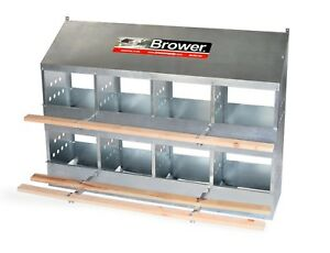 New Brower 8 Hole Galvanized Hen Nest Chicken Nesting Laying Box Made In Usa