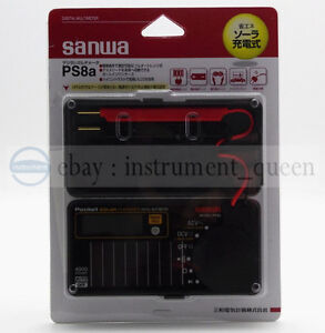 Digital Solar Battery Pocket Size Electric Multimeter Sanwa Ps8a Dmm 0 7 New