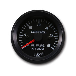 52mm 0 6000 Rpm In Dash Electrical Tachometer Gauge For Diesel