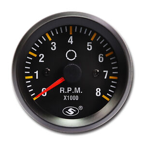 52 Mm 0 8000 Rpm Electrical Tachometer Gauge For 4 6 8 Cylinder Engine