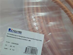 Copper Tubing 5 8 In X 50 Ft Refrigeration Hvac Tube Coil Ductless New