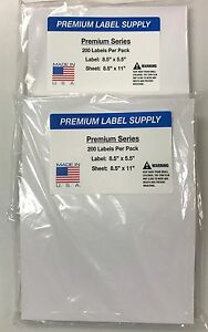 500 Premium 8 5 X 5 5 Half Sheet Shipping Labels Self Adhesive pls Brand