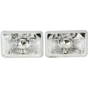 Universal 4656 4651 Crystal Clear Conversion Headlight 5 Rectangular Lamp 4x6