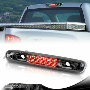 Smoke Lens Led 3rd Brake Tail Light For 2007 2013 Gmc Sierra 1500 2500hd 3500hd