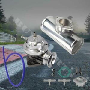 Chrome Type Rs Adjustable Blow Off Valve 2 5 Polished Aluminum Pipe Bov Adapter