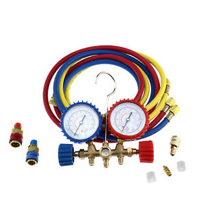 Auto A C Refrigeration Air Conditioning Ac Diagnostic Manifold Gauge Tools Kit