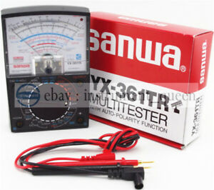 Analog Analogue Multitester Multimeter Wide Measurement Range Sanwa Yx 361tr