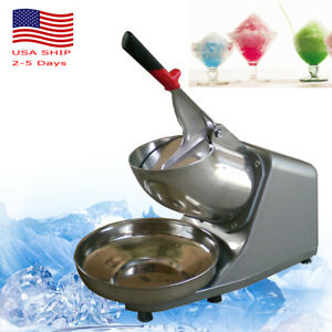 Tabletop Electric Ice Crusher Machine Shaver Shaved Icee Snow Cone Maker 132lbs