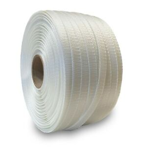 White Polyester Cord Strapping 3 4 x2500 96 05 Per Roll 2 Roll Case