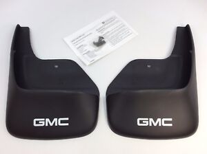 2002 2009 Gmc Envoy Front Molded Mud Flaps Splash Guards New Oem 12497606