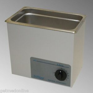 New Sonicor Stainless Steel Tabletop Ultrasonic Cleaner 0 75 Gal S 100t