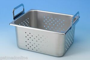 New Stainless Steel Perforated Tray For Branson 8500 8800 Part No 100 410 168