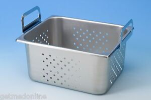 New Stainless Steel Perforated Tray For Branson 2500 2800 Part No 100 410 162