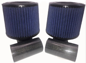 Psp N54 Dci Dual Carbon Intake Kit With Blue Cone Air Filter For Bmw 135 335 535
