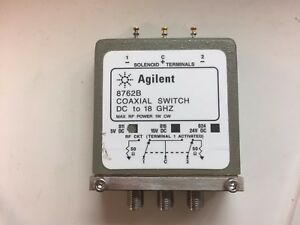 Agilent 8762b Dc 18 Ghz Rf Coaxial Switch W opt 011 0v And 5v Control