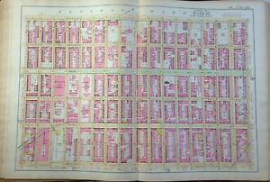 1891 Upper East Side Manhattan Ny Houdini Apt Mt Sinai 7th Reg Armory Map Atlas