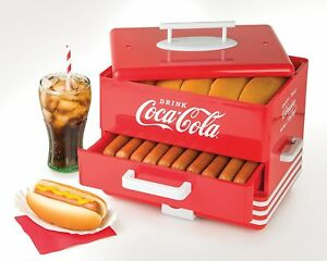 Hot Dog Steamer Bun Warmer Coca Cola Touch Bun Steamer Fits 24 Hot Dogs 12 Buns