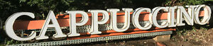 Lighted 16 Foot Long Outdoor Cappucino Business Sign Coffeeshop Advertising